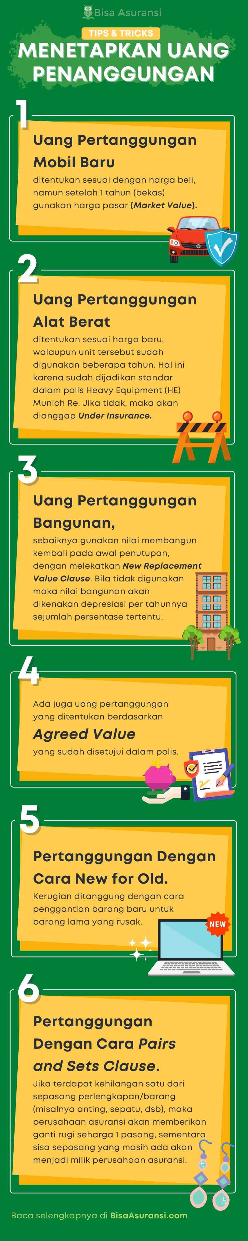 6 cara menetapkan uang pertangguangan